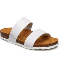twin strap slip in shoes summer shoes flat sandals brun bianco
