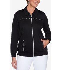 alfred dunner petite clean getaway embellished jacket
