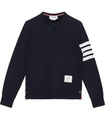 four bar stripe cotton sweatshirt