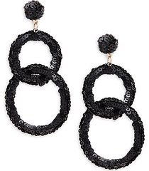 sequin double link gypsy hoop earrings