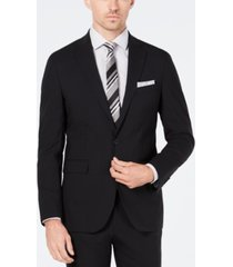 cole haan men's grand. os wearable technology slim-fit stretch solid suit jacket