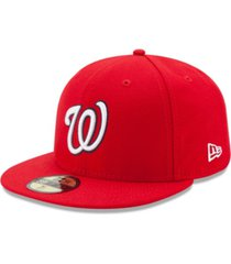 new era kids' washington nationals authentic collection 59fifty cap