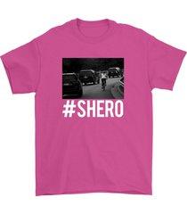 flipping off donald trump shirt funny shero unisex hot pink tee shirt