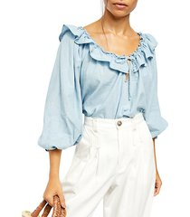 lily of the valley chambray blouse