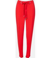 hugo women's hilika trousers - open pink - uk 12/eu 40