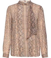 blouses woven blus långärmad beige esprit collection