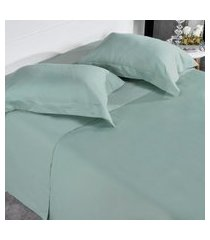 jogo de cama 300 fios casal 100% algodáo penteado toque acetinado grime - tessi.