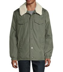 kegn faux fur-trimmed tracker jacket