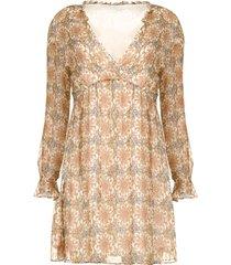 jurk met print aeuthalia  bruin