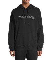 true religion men's raglan logo hoodie - onyx - size xl