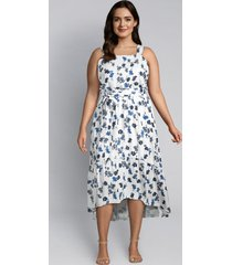 lane bryant women's floral high-low ruffle midi dress 26 napa floral