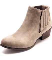 botines de tacón ancho y punta redonda en color marrón - anna - frankie