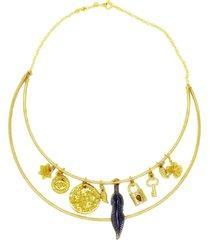 colar la madame co maxi colar dourado - kanui