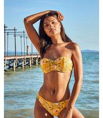 briony mindful underwire bandeau strapless tie front bikini top c-gg
