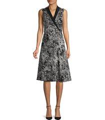 printed silk knee-length dress