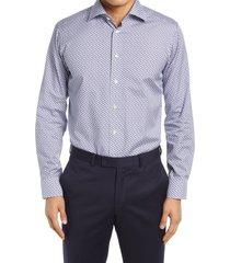 men's eton slim fit dress shirt, size 15r - blue