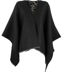 burberry monogram wool jacquard cape