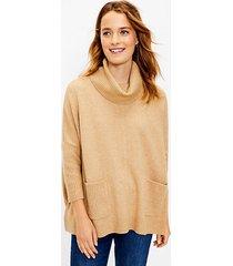 loft pocket poncho sweater
