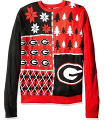 ncaa klew georgia bulldogs busy block colorful ugly sweater