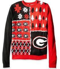 ncaa klew georgia bulldogs busy block colorful ugly sweater