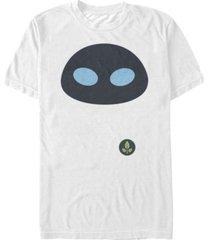 disney pixar men's wall-e eve big face costume short sleeve t-shirt