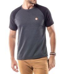 camiseta raglan under no stress mescla escuro - kanui