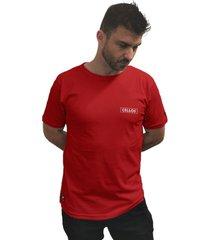 camiseta cellos box logo premium vermelho - kanui