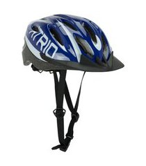 capacete ciclismo átrio mtb 2.0 led viseira removível branco/azul