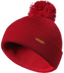 cappelli a maniche lunghe per cappelli invernali con berretto di lana lavorato a maglia di lana a tinta unita