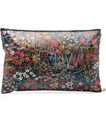 bonpoint floral zipped pouch bag - black