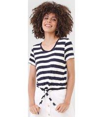 camiseta only onlari azul-marinho/off-white
