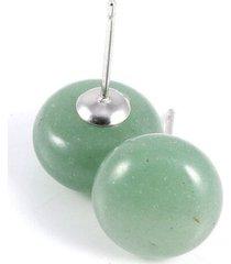 aretes topitos piedra natural jade os9072
