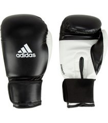 luvas de boxe adidas power 100 smu colors - 14 oz - adulto - preto/branco