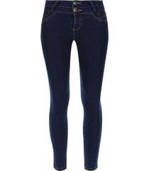 jean mujer moda push up color azul, talla 10