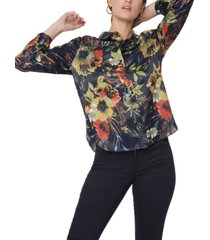 nydj modern button-front blouse