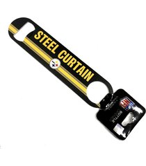 abridor de garrafas 2 sided nfl pittsburgh steelers - incolor - dafiti