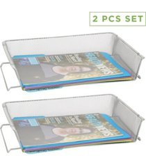 mind reader 2 piece stackable letter tray, file organizer