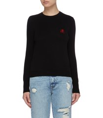 good luck embroidered sweater