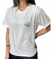 camiseta básica beige fist mujer