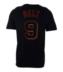 nike san francisco giants men's name and number player t-shirt brandon belt