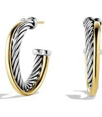 women's david yurman crossover small hoop earrings with gold