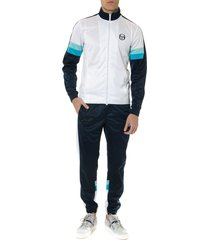 sergio tacchini white and blues century track suit