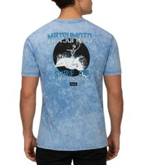 hurley men's matsumoto shave ice tie-dyed logo graphic t-shirt