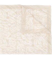 acne studios crinkled-effect bandana scarf - neutrals