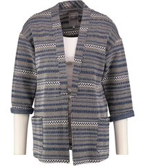 geisha stevig blazer jasje 3/4 mouw materiaalmix