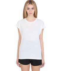 iro harmon t-shirt in white linen
