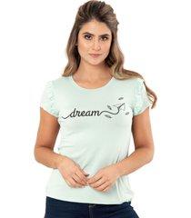 camiseta dream verde ragged pf51120528