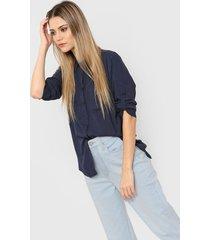 camisa azul ted bodin bolsillos