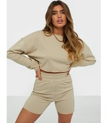 missguided cropped sweat & shorts set jumpsuits