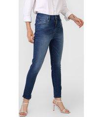 calça jeans my favorite thing(s) skinny estonada azul - kanui
